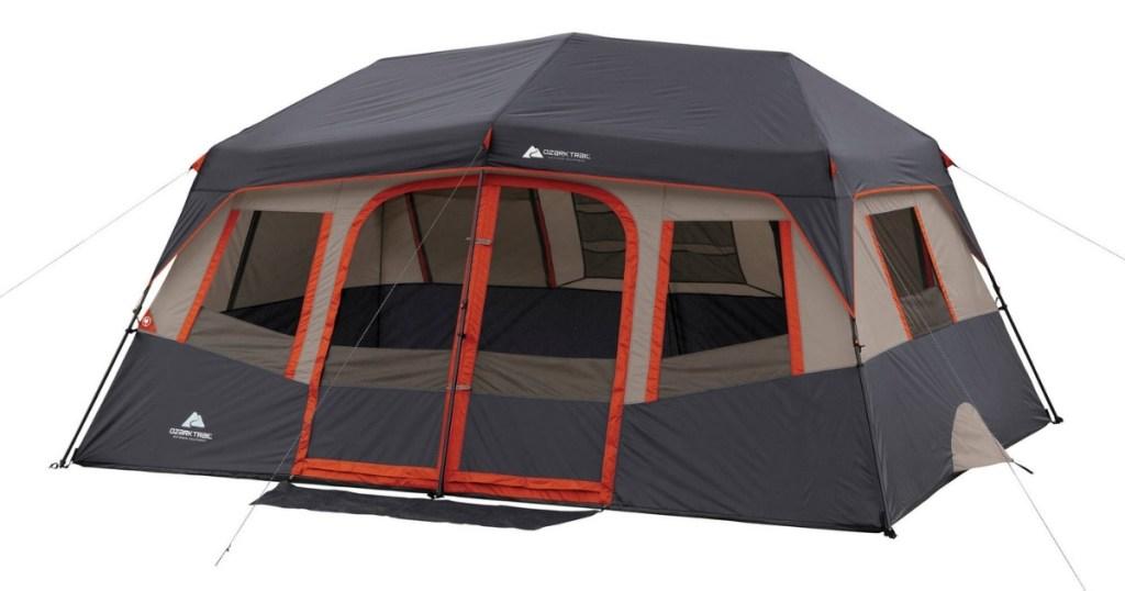 ozark trail 10 person tent orange