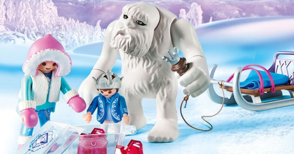 toy yeti and people figures