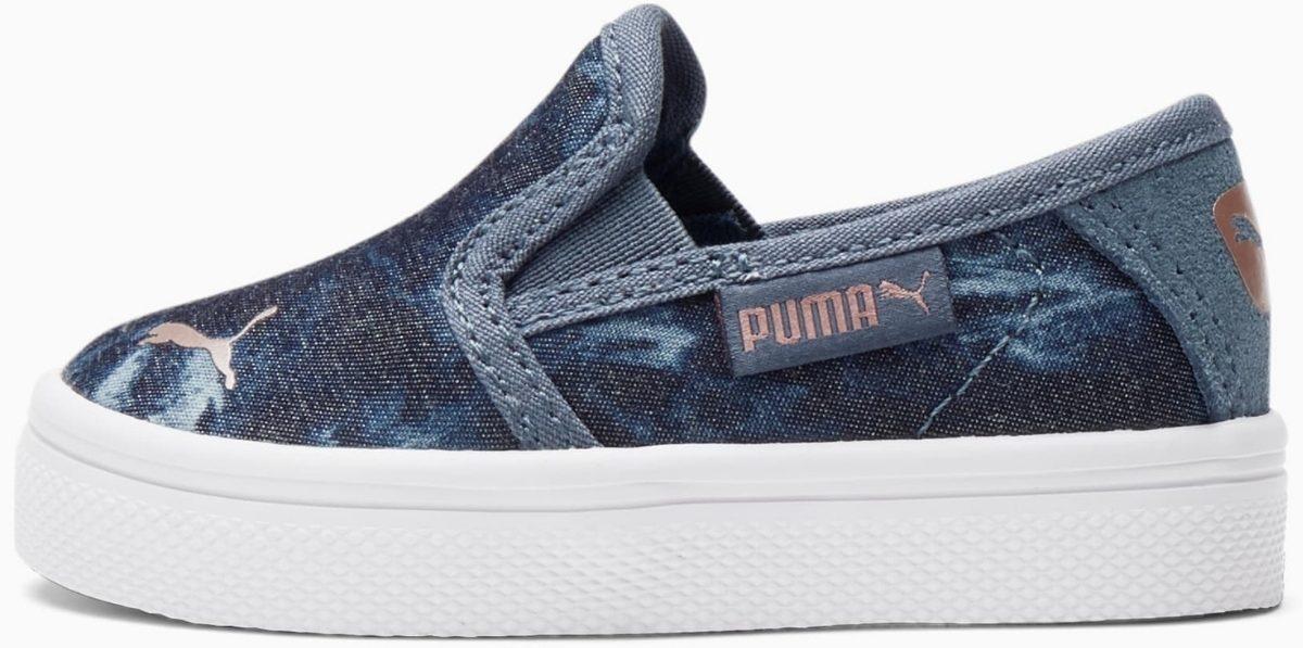 PUMA Bari Slip On Textile Indigo Toddler Shoes
