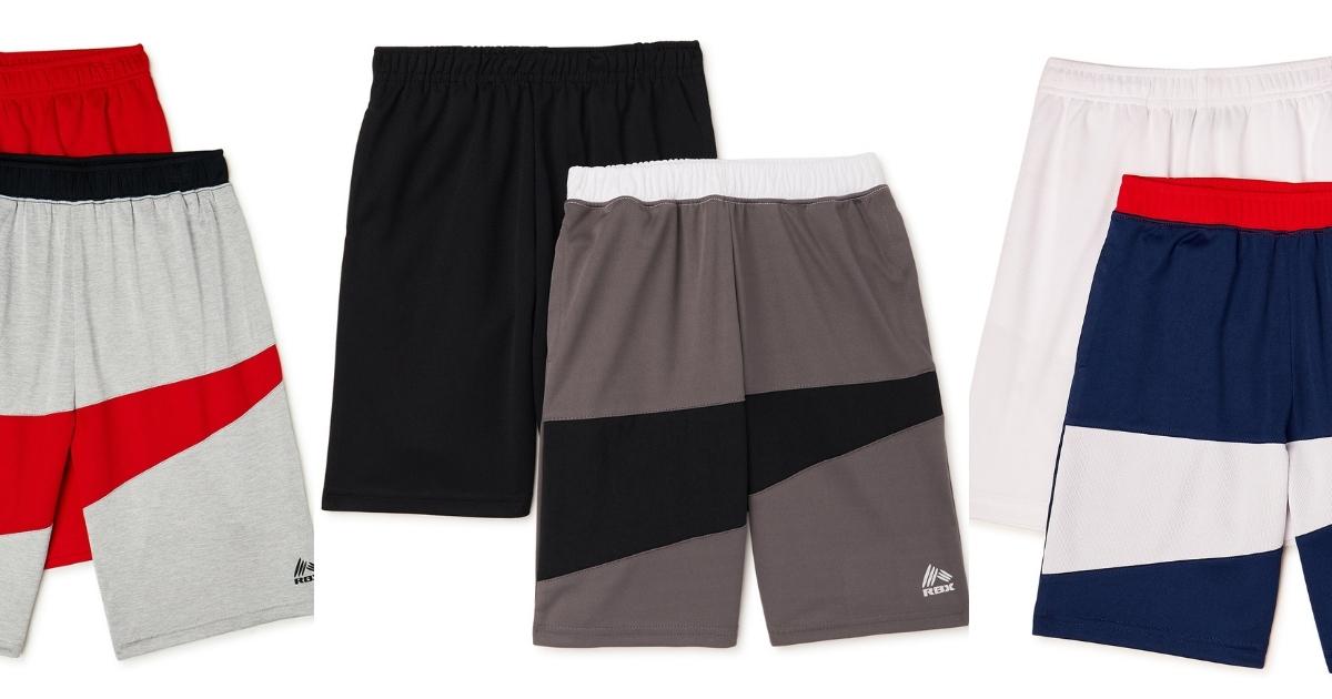 3 sets of boys performance shorts