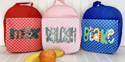 Personalized Insulated Kids Lunch Boxes Only $20.99 Shipped(Regularly $36)   25 Font Choices