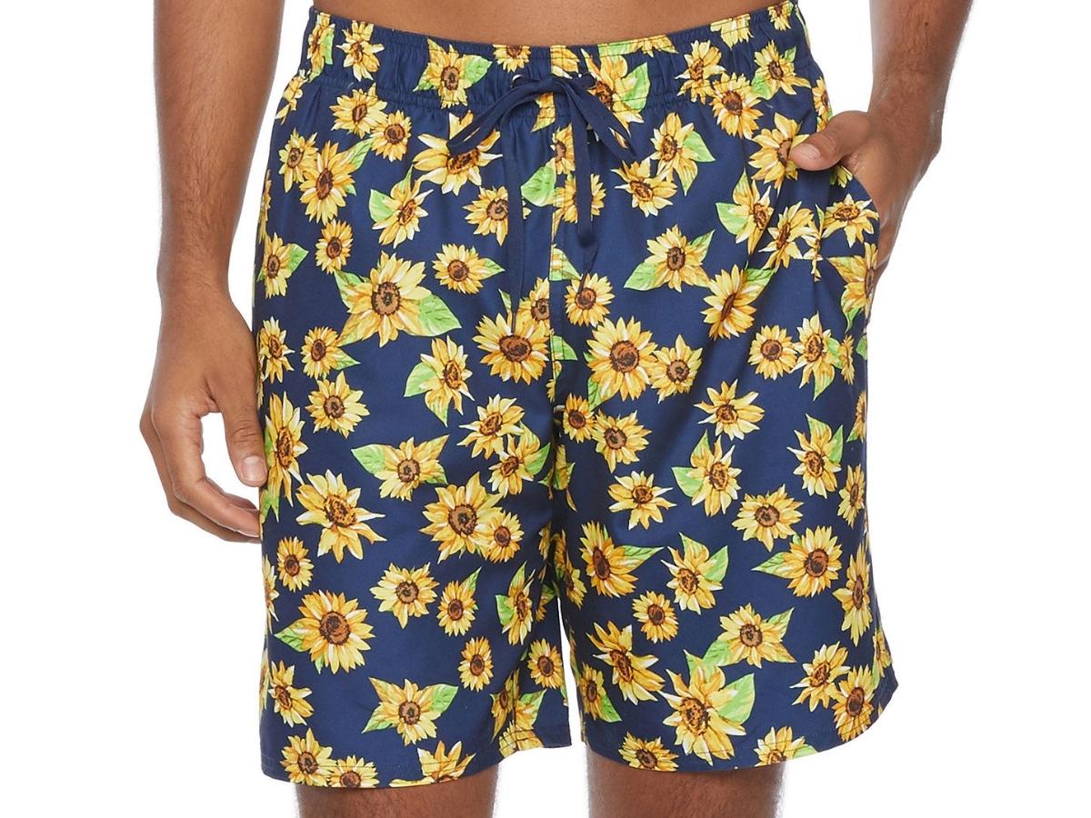 Peyton & Parker Men's Floral Swim Trunks
