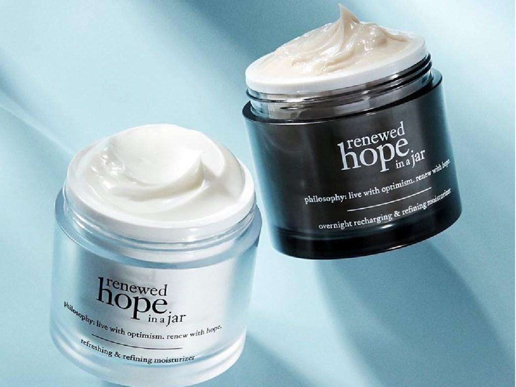 2 jars of philosophy renewed hope in a jar