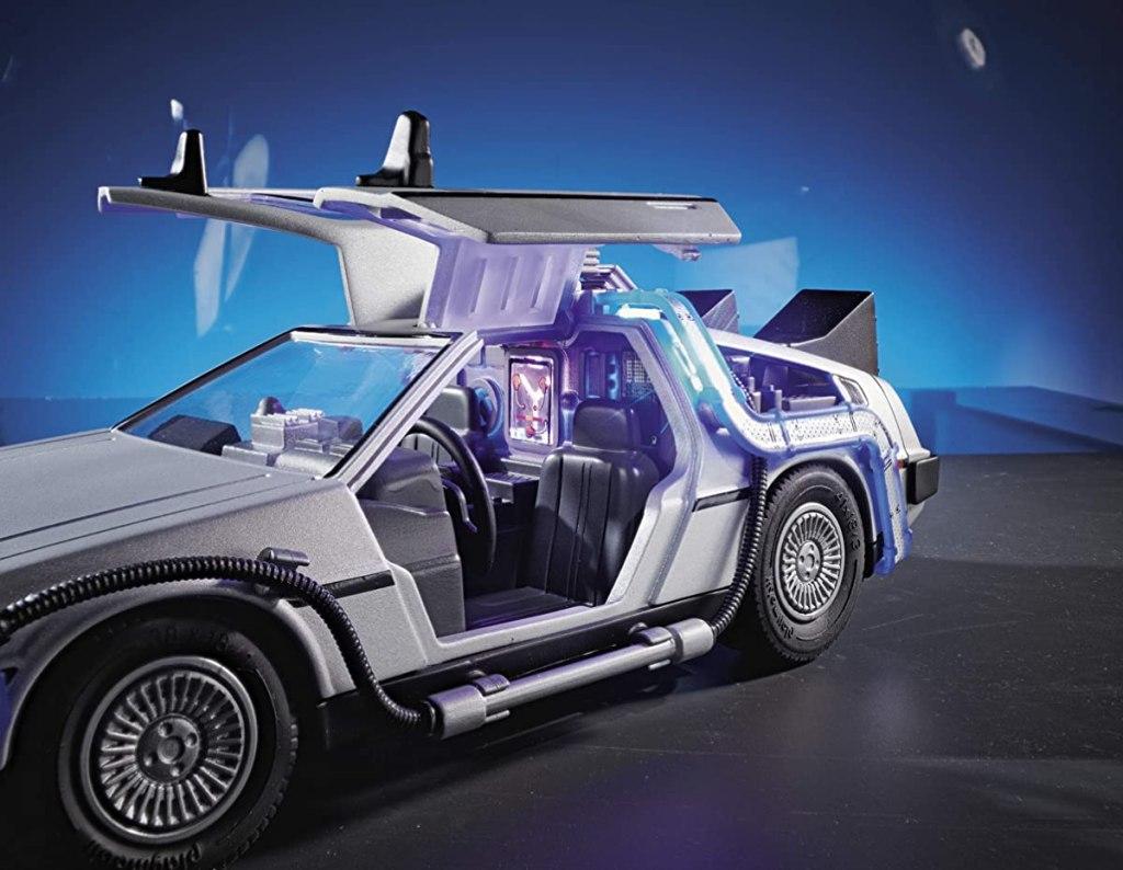 Playmobil Delorean toy car