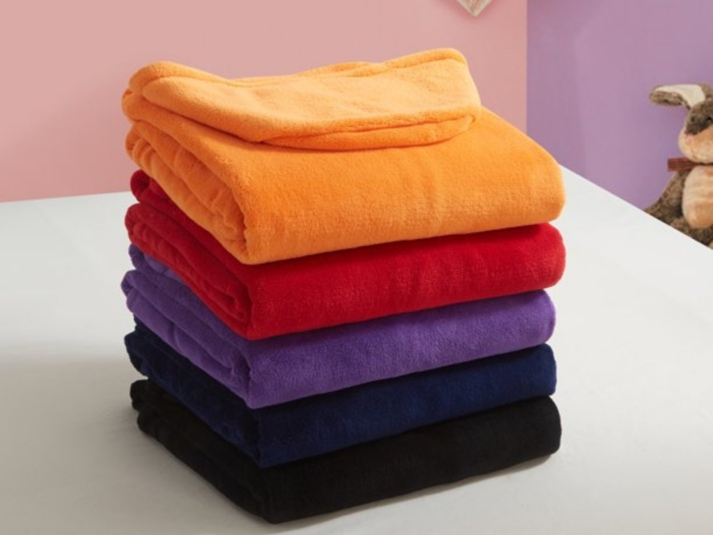 Pop Shop University Plush Hooded Throw With Pockets