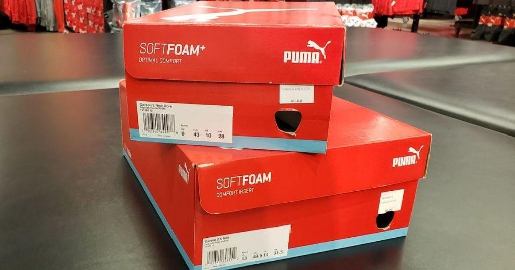 two puma shoe boxes