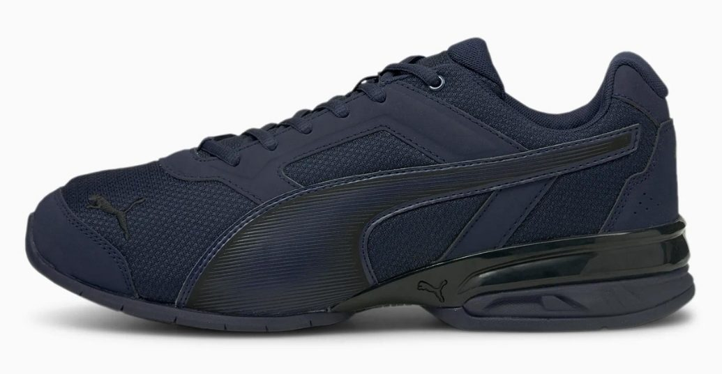 dark blue puma tazon running shoes men