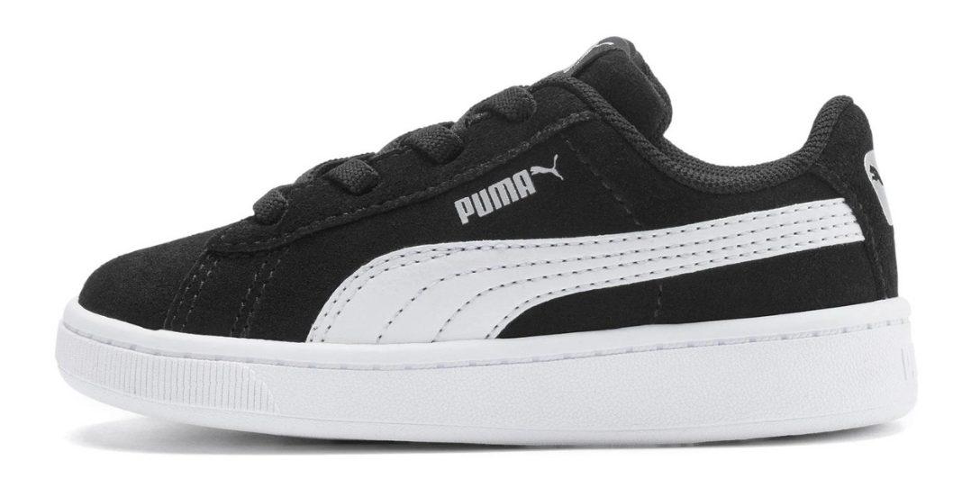 black puma suede shoes