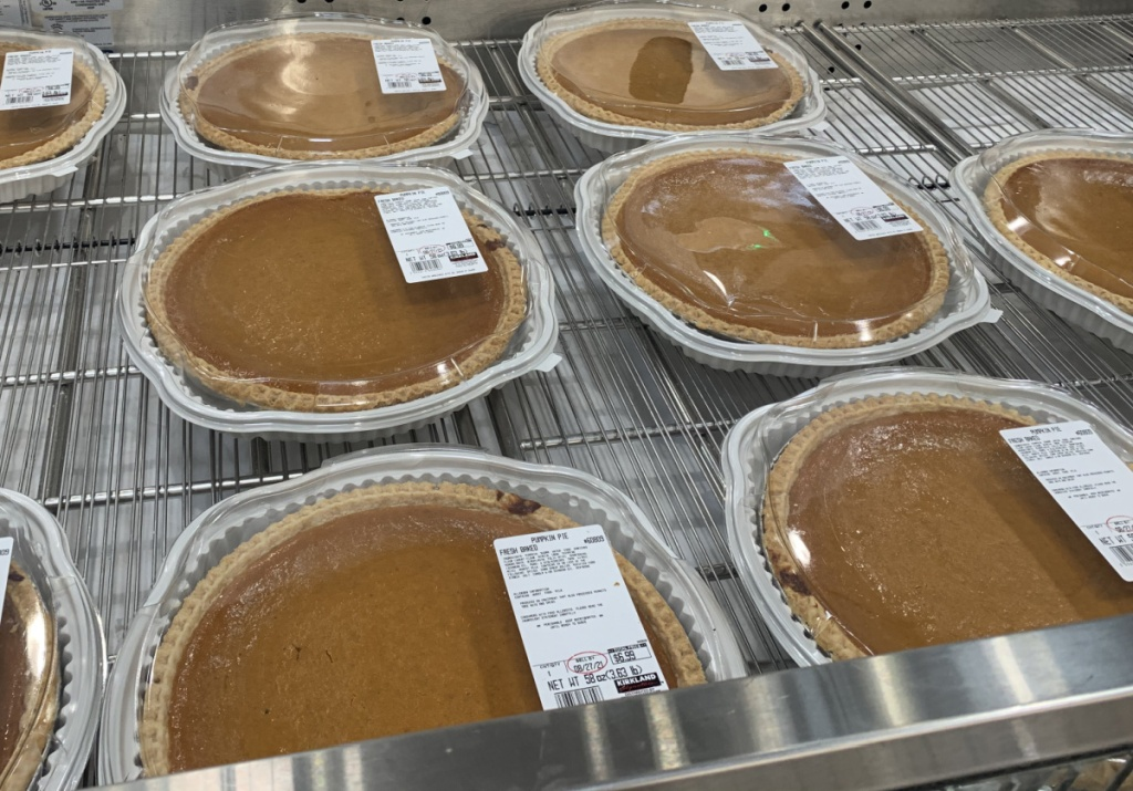 in-store display of fresh baked pies