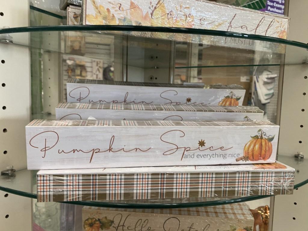 Pumpkin Spice Shelf Decor