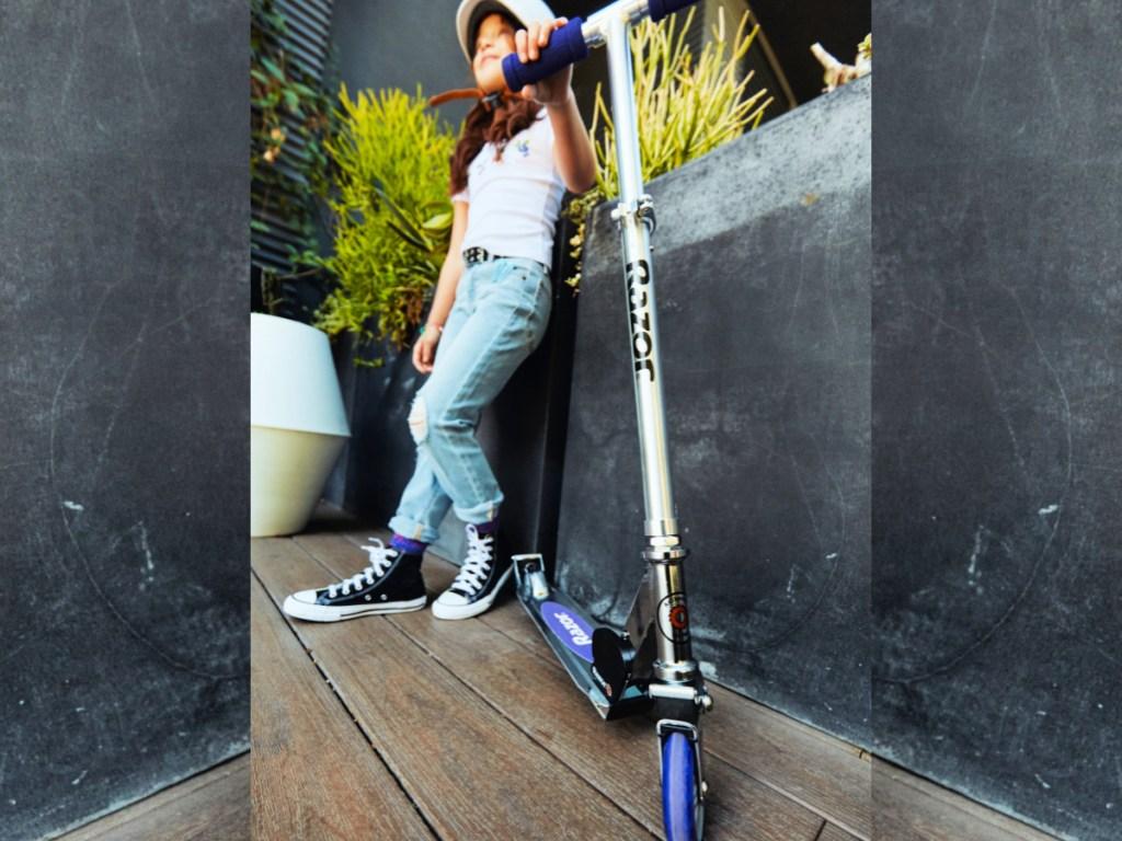 Razor A2 Kick Scooter in Purple