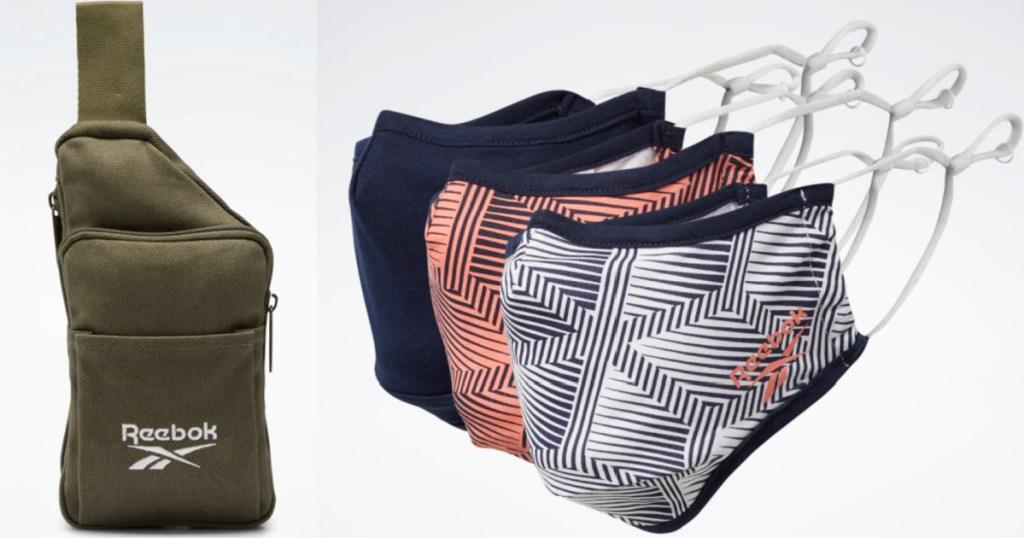 reebok bag and mask set