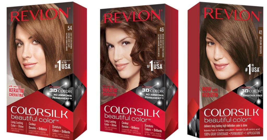 3 boxes of revlon permanent hair dye
