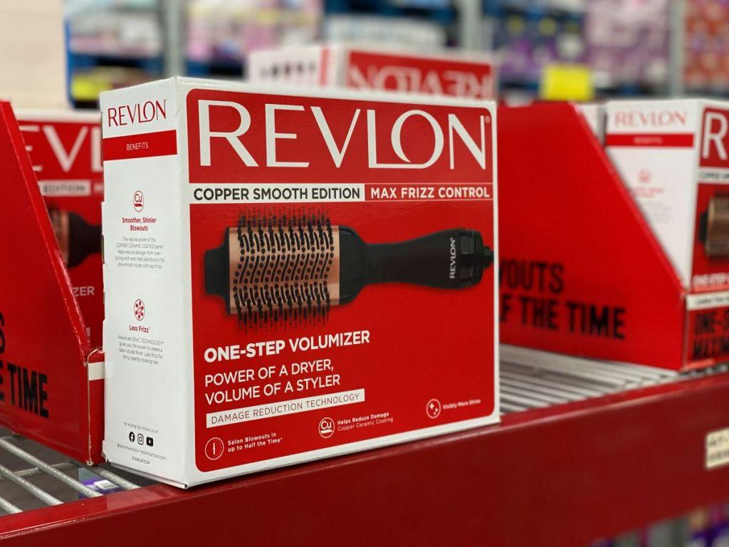 Revlon One-Step Hair Dryer on a shelf at Sam's Club