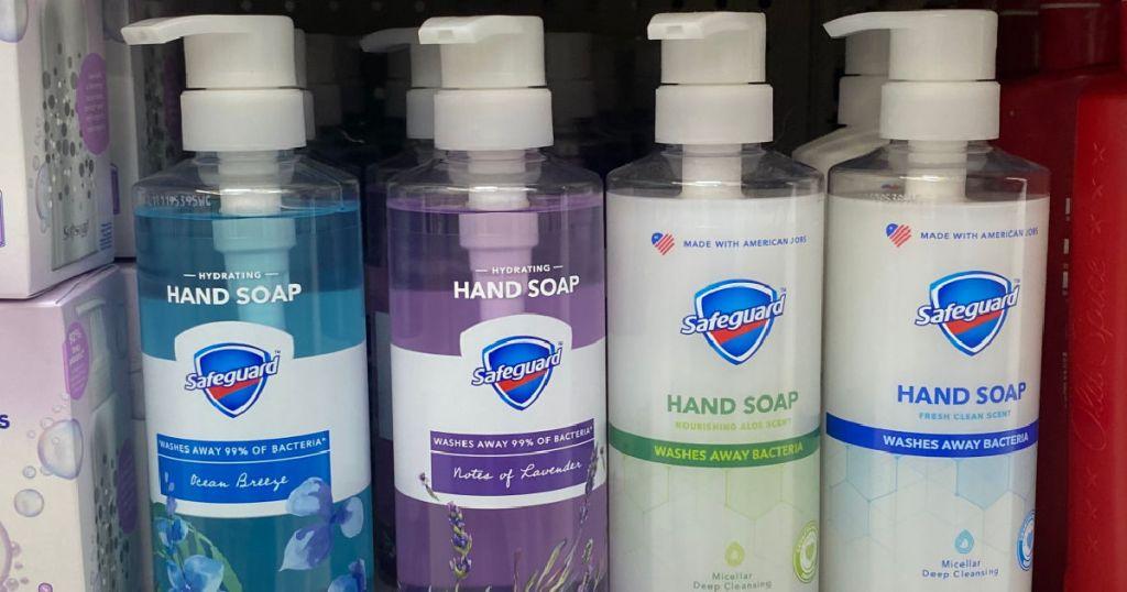 hand soap on shelf