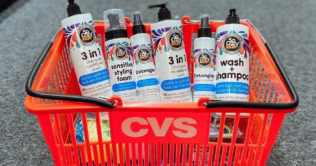So Cozy Haircare in CVS basket