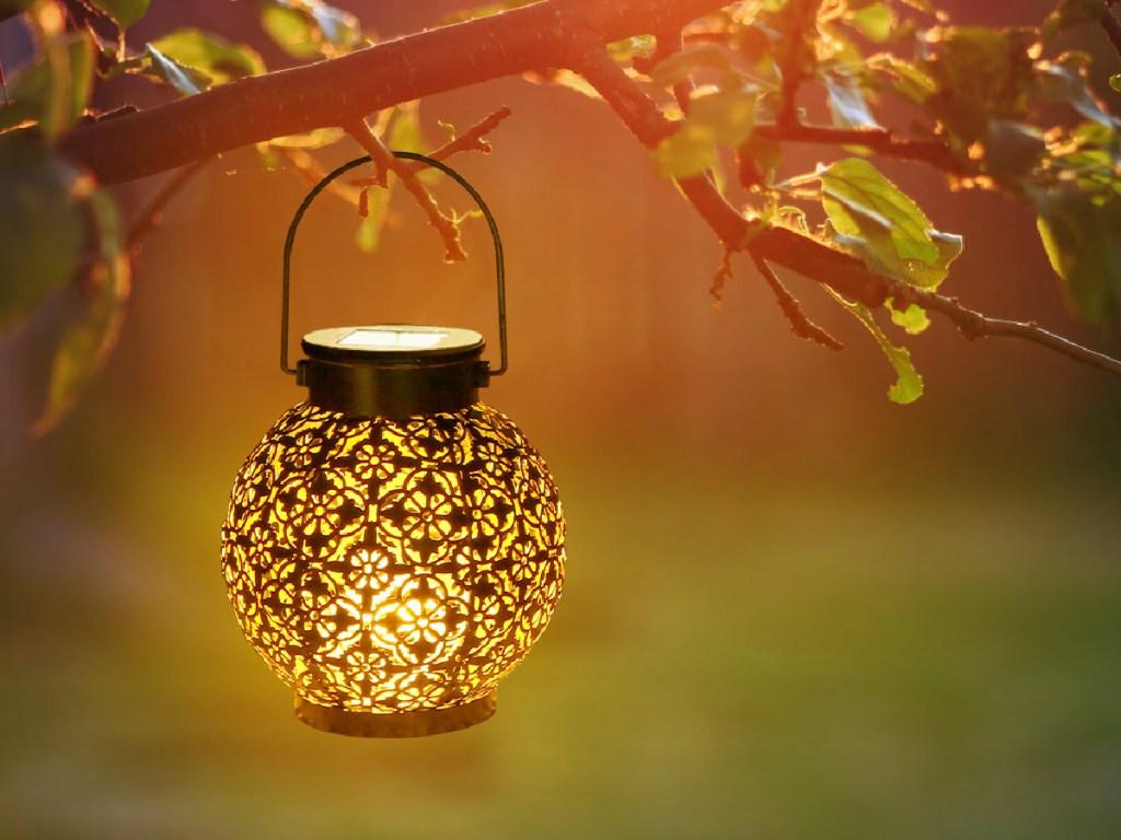 Solar Outdoor Hanging Lantern