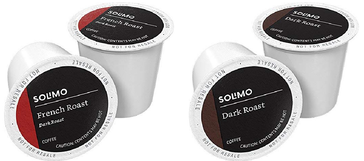 solimo french roast and dark roast k-cups
