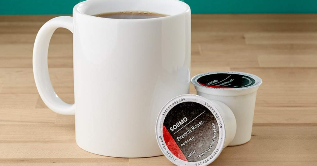 solimo french roast coffee pods