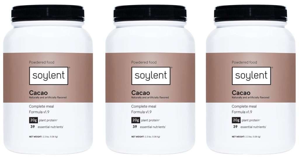3 large cacao tubs of protein powder