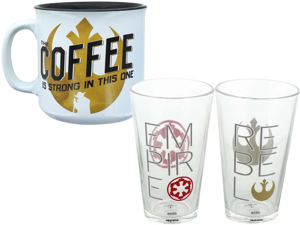 Star Wars Coffee Mug and Pint Glasses