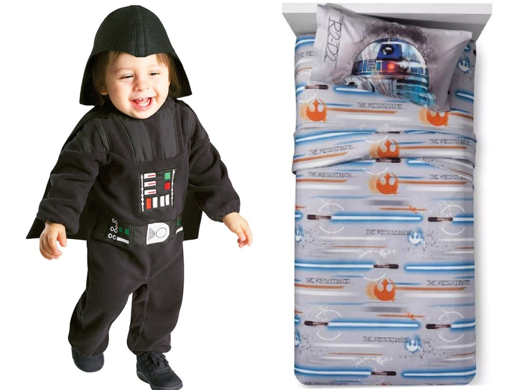 Star Wars Toddler costume and twin sheet set
