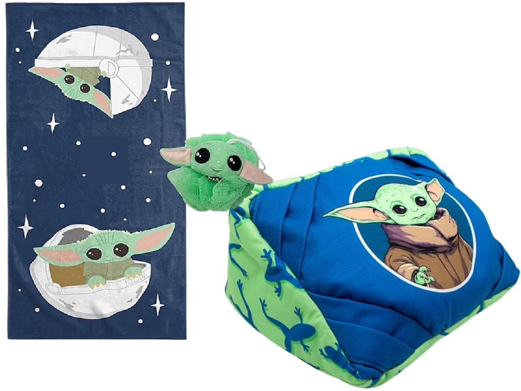 Star Wars Towel and loofah set and tablet pillow