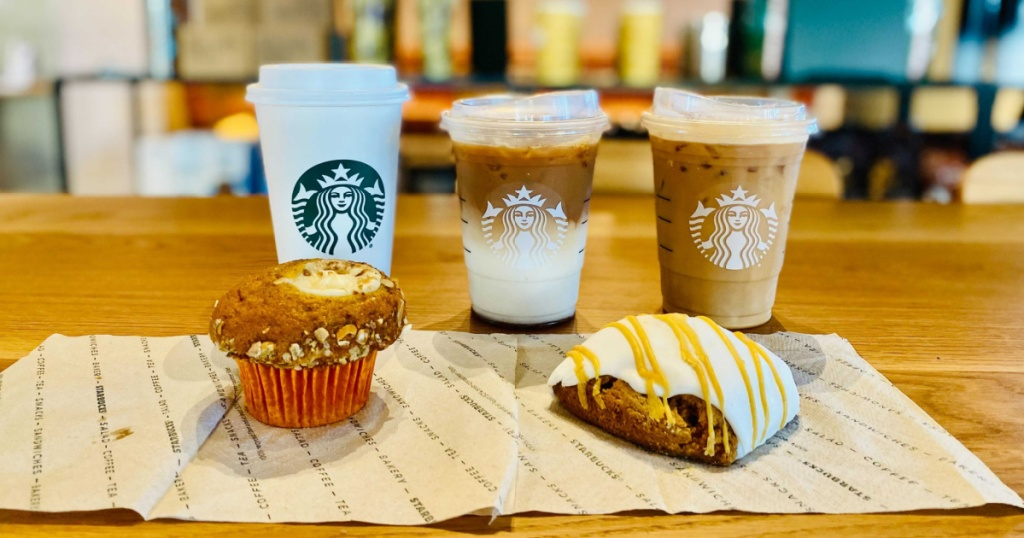 Starbucks Fall coffee and bakery items