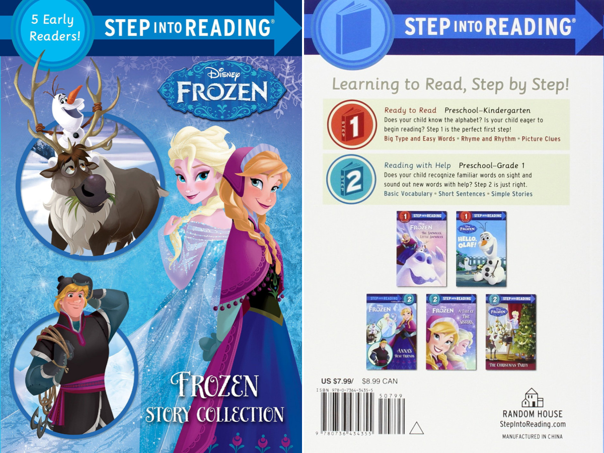 front and back view of a Disney Frozen paperback book collection