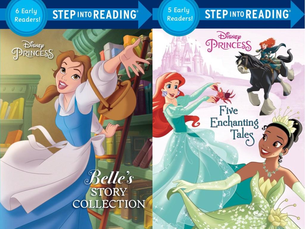 two Disney princess paperback books for kids