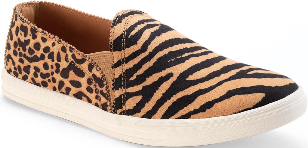 tiger print women's sneaker