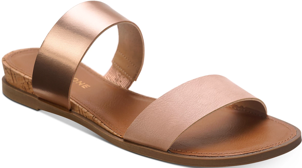 tan and gold sandal