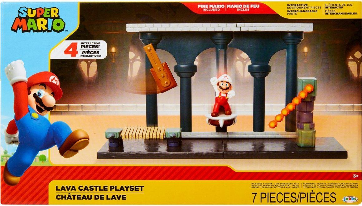 super mario lava castle play set box