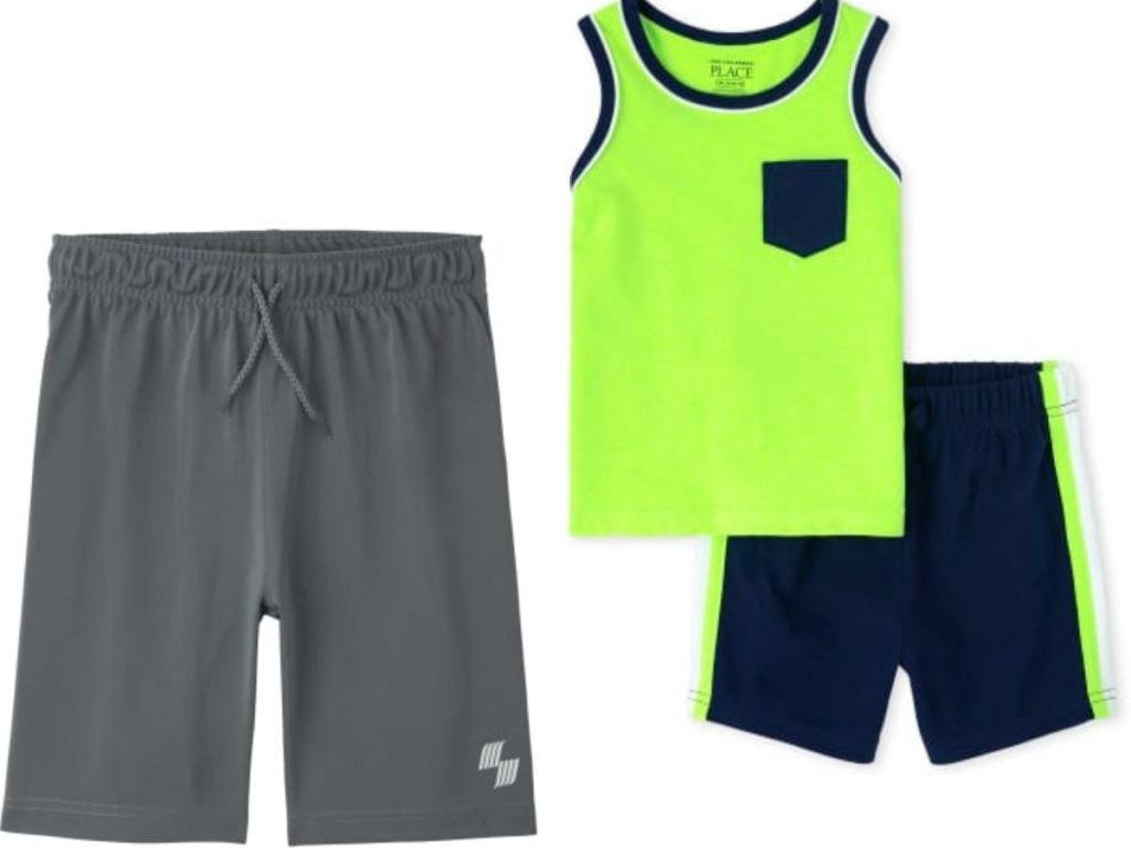 TCP boys clothing athletic shorts and 2-piece clothing set
