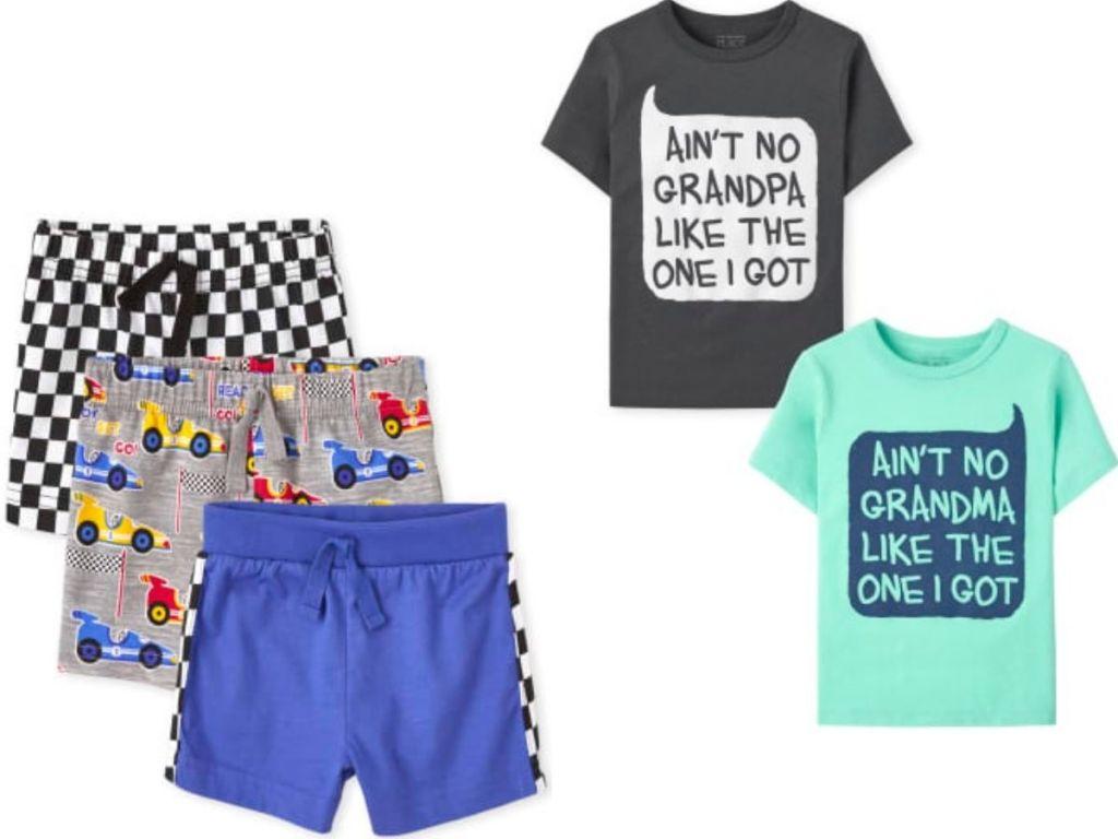 TCP boys clothing shorts and t-shirt sets