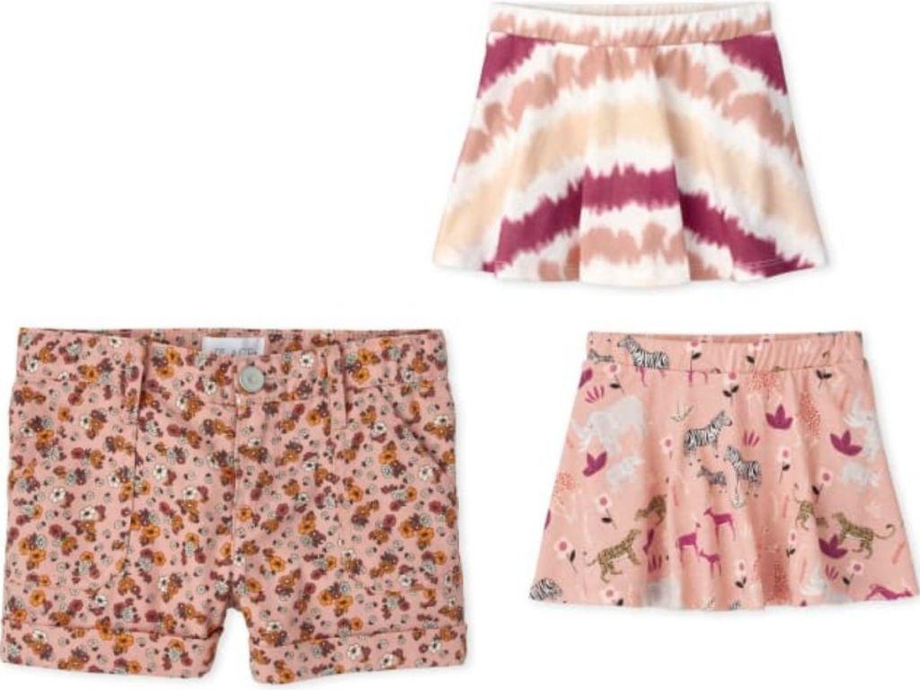 TCP girls clothing shorts and toddler skorts set
