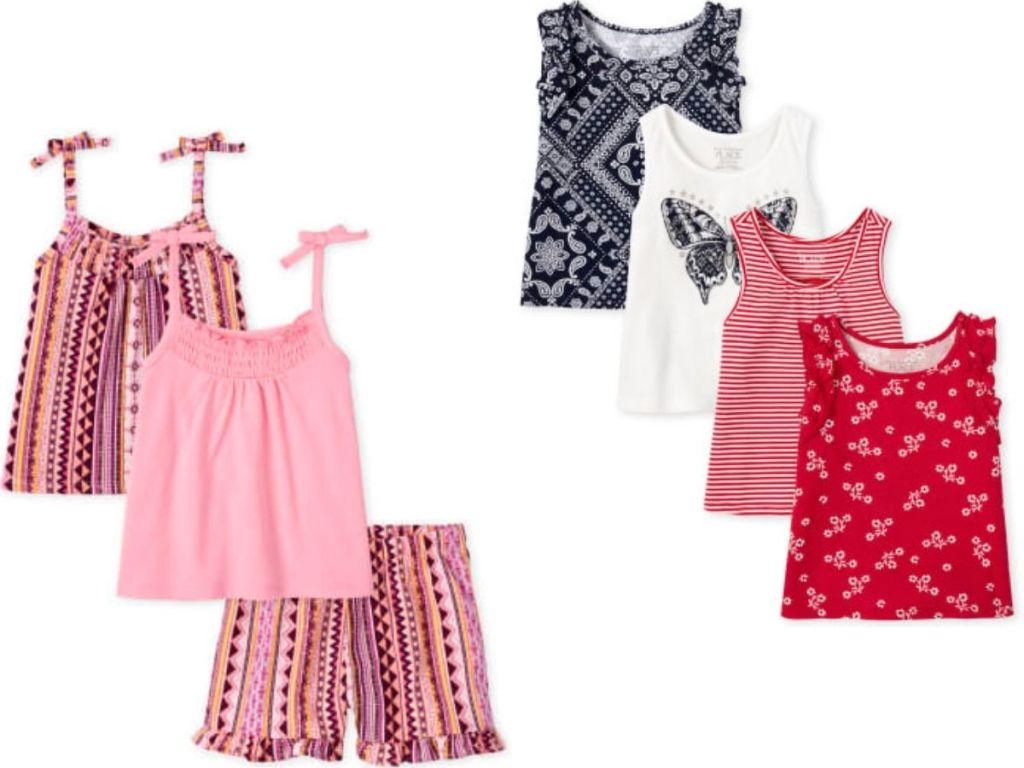 the children's place girls shirt sets