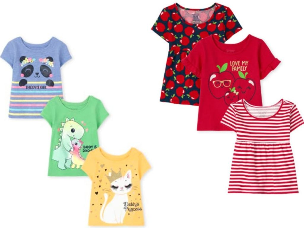 the children's place shirts sets for girls