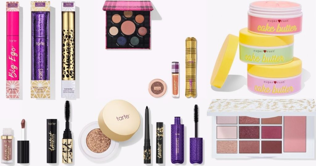 group of Tarte cosmetics and skincare