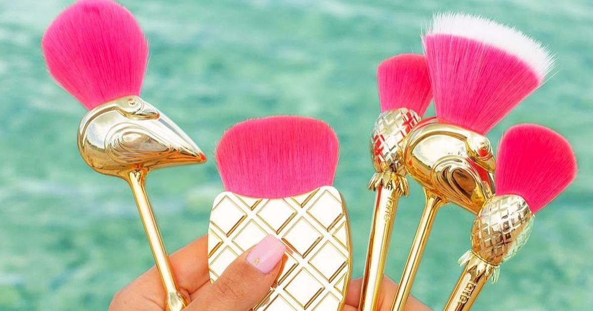 Tarte Flamingo 5-Piece Makeup Brush Set
