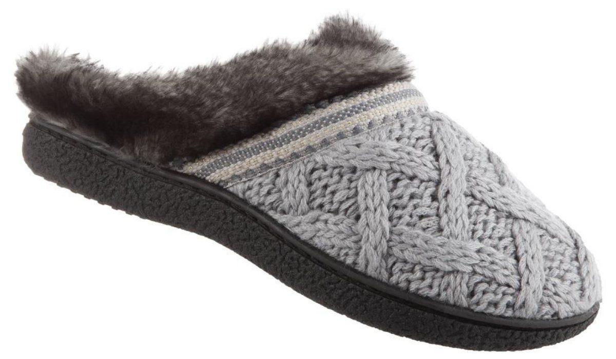 tessa knit hoodback slippers