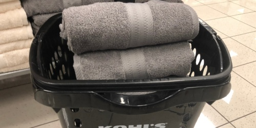 The Big One Bath Towels, Hand Towels, & 6-Pack Washcloths from $2.54 on Kohls.com