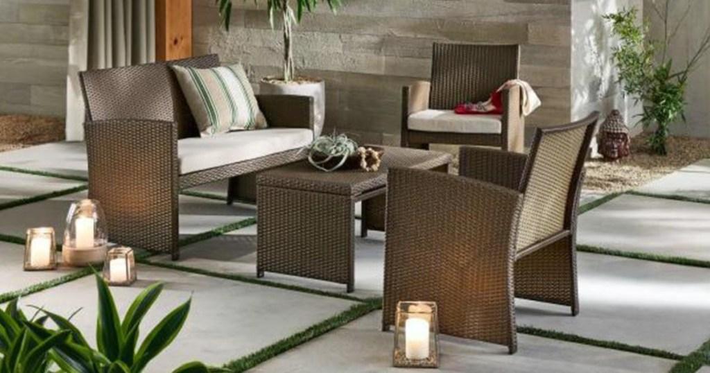 brown patio set at home depot
