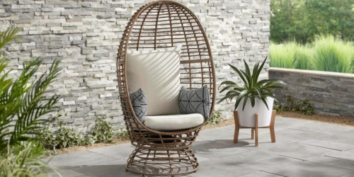 Wicker Swivel Patio Egg Chair Only $189.73 Shipped on HomeDepot.com (Regularly $340)