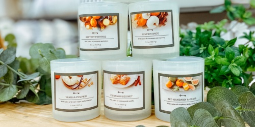 Target's $3 Threshold Fall-Scented Candles Have Drool-Worthy Scents Like Pumpkin Spice & Cinnamon Beignet