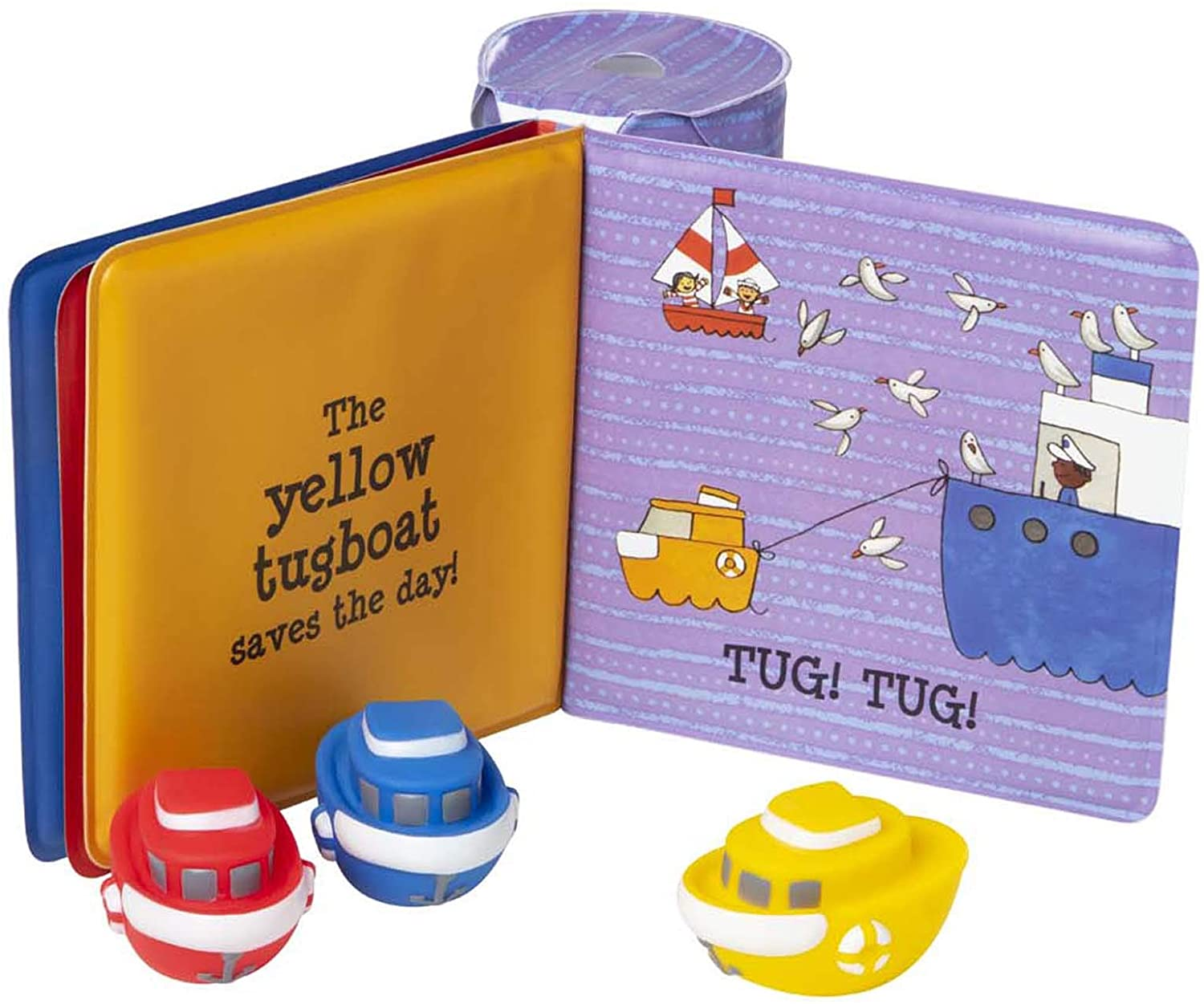 Tiny Tugboats Book with toys