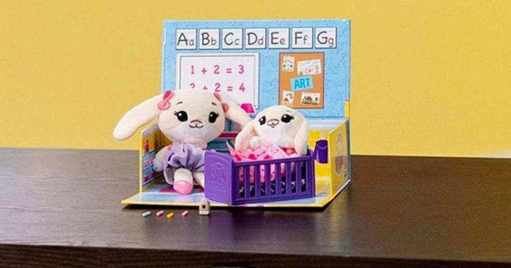 bunny tiny tukkins playset on table