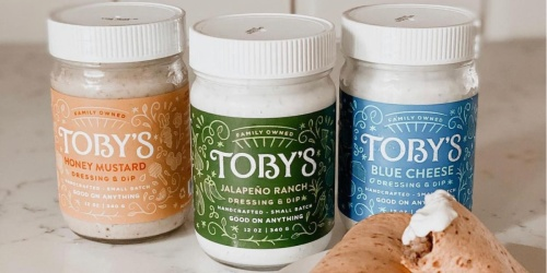 FREE Toby's Dressing & Dip (One for You + One for a Friend)