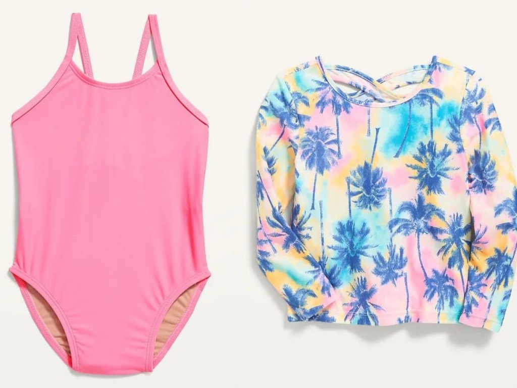 toddler girls swimsuit and rashguard at old navy