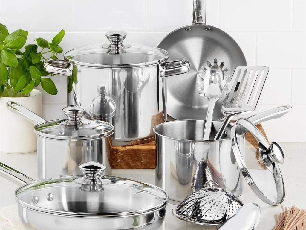 tools of the trade stainless steel cookware set 13 piece